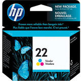 HP 22 Original Tri-Color Ink Cartridge (C9352AN)