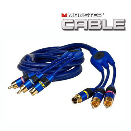 6' Monster Cable CamLink 400 S-Video & 2 RCA (M) to (M) Video/Audio Cable w/Gold-Plated Connectors (Blue)