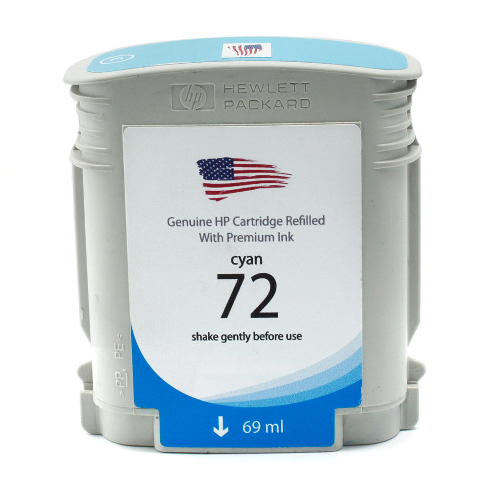 HP 72 Remanufactured Cyan Ink Cartridge (C9398A)(Standard Yield)