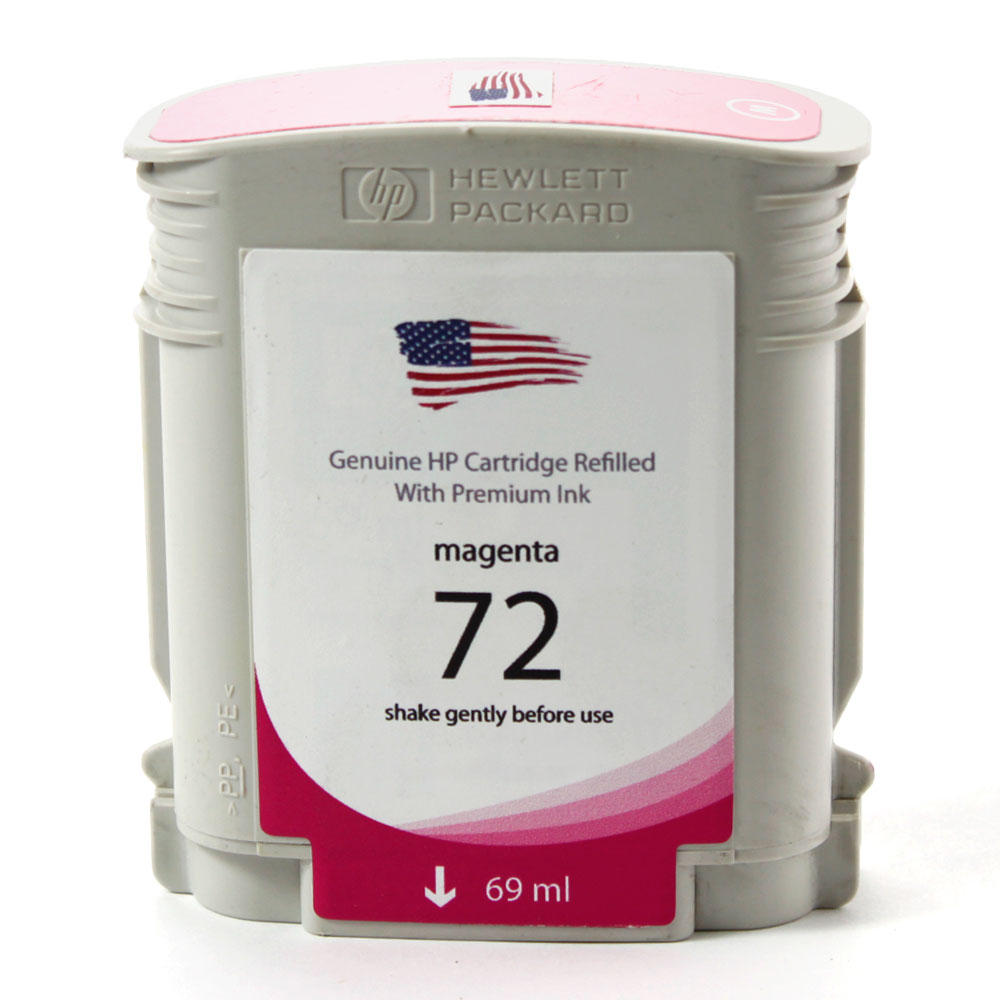 HP 72 Remanufactured Magenta Ink Cartridge (C9399A)(Standard Yield)