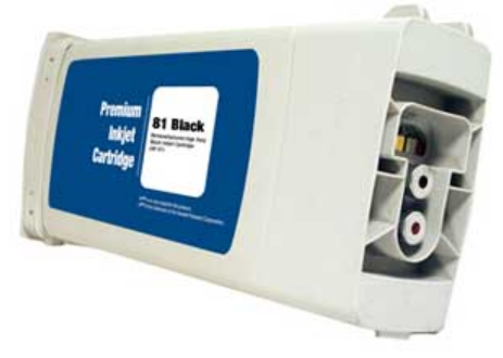 HP 81 Remanufactured Black Ink Cartridge (C4930A)