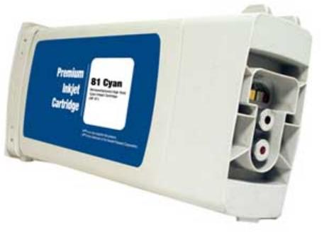 HP 81 Remanufactured Cyan Ink Cartridge (C4931A)