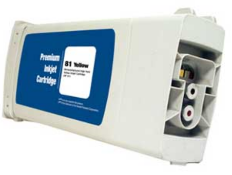 HP 81 Remanufactured Yellow Ink Cartridge (C4933A)