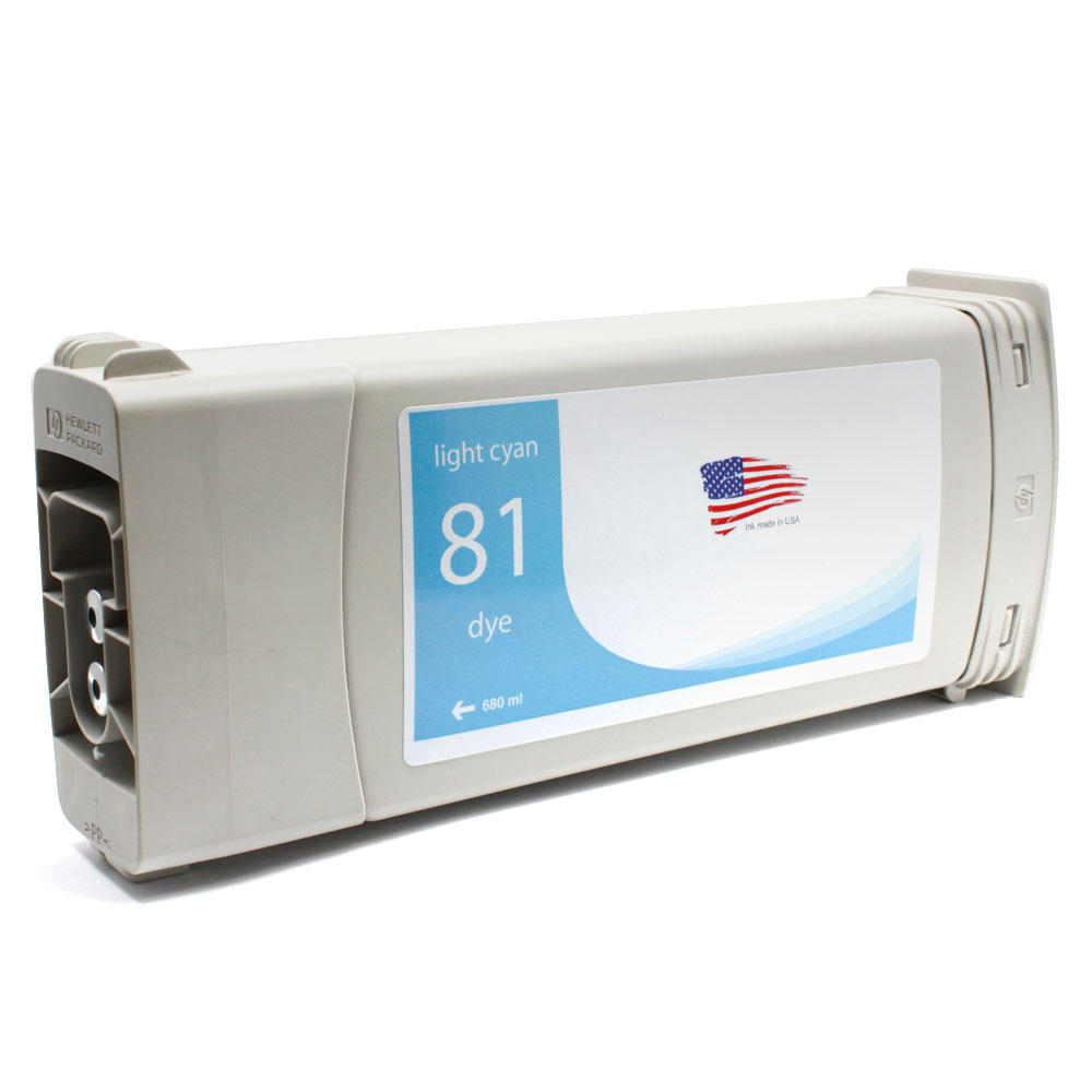 HP 81 Remanufactured Light Cyan Ink Cartridge (C4934A)