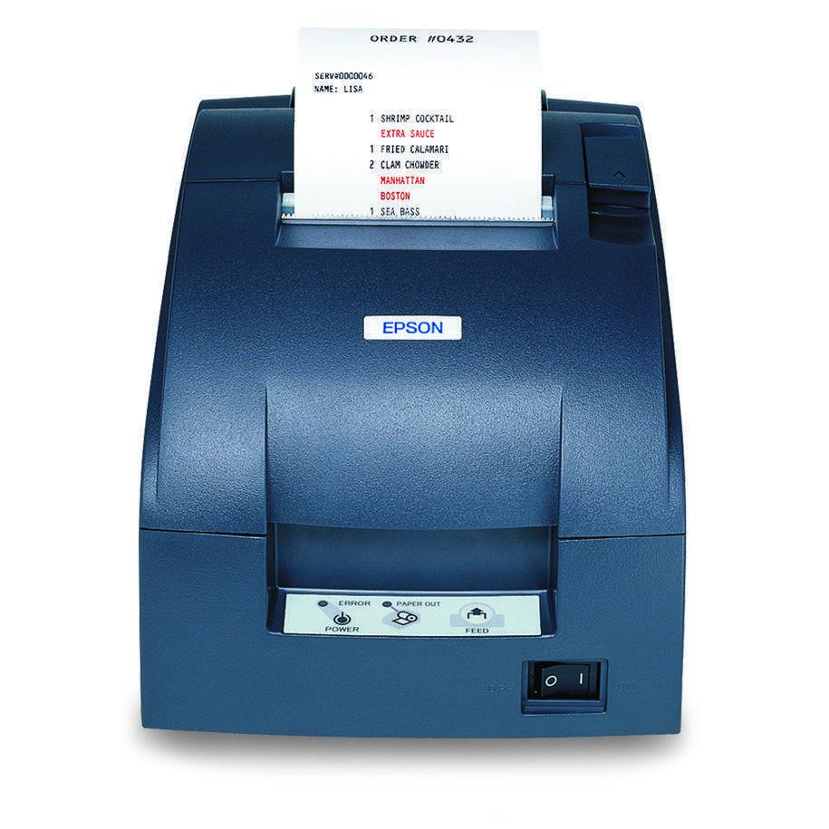Epson TMU220B-653 Receipt Printer Two Color Dot Matrix Serial Interface