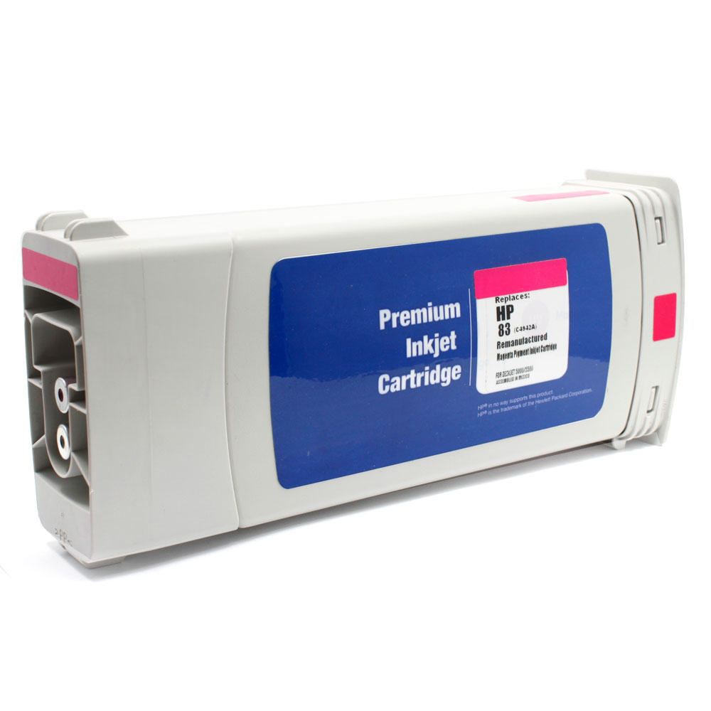 HP 83 Remanufactured Magenta Pigment Ink Cartridge (C4942A)