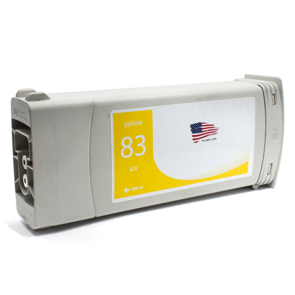 HP 83 Remanufactured Yellow Pigment Ink Cartridge (C4943A)