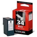 Lexmark 18C0034/18C0640 (NO.34) Original Black High Yield Ink Cartridge (18C0034)
