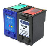 Remanufactured HP 21 HP 22 Black & Color Ink Cartridges Combo Set