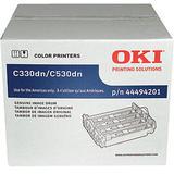 Okidata 44494201 Original (Type C17) Laser Drum Unit, Single Image Drum Includue 4 Colors