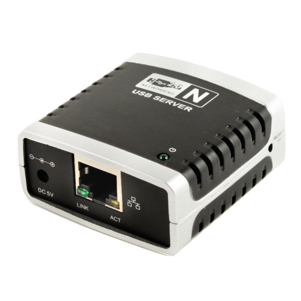 Networking USB 2.0 Print Server - Share 4 USB Devices - Monoprice