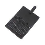"Protective Leather Case Cover + USB Keyboard for 7 inch 7"" Tablet PC MID Newsmy NewPad T3 T7 Black Color"