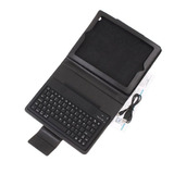 Wireless Bluetooth Keyboard + Leather Case for New iPad 3 iPad 2 Waterproof and Dustproof QWERTY keyboard (video presentation)