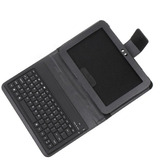 "Wireless Bluetooth Keyboard + Leather Case Stand for Samsung Galaxy Tab 8.9"" P7300 P7310 ,Retail Box (video presentation)"