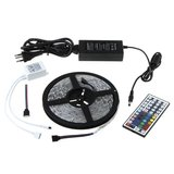 IP65 Waterproof 300 LED Strip 5M SMD5050 RGB LED Strip Light + 44 Key IR Controller control Box + Power Supply