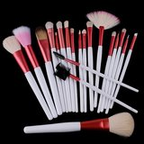 20 PCS Pink Professional Makeup Brush Sets Tools Cosmetic Brush + Pink Pouch Bag