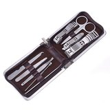 9 in 1 Nail Clipper Manicure Grooming Set + Leather Case