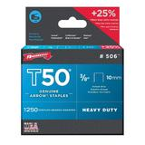 "Arrow® 3/8"" Heavy-Duty Staples, 1250/box"