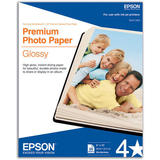 "EPSON S041465 20 Sheets Premium Photo Paper, Borderless, Glossy, 8"" x 10"""