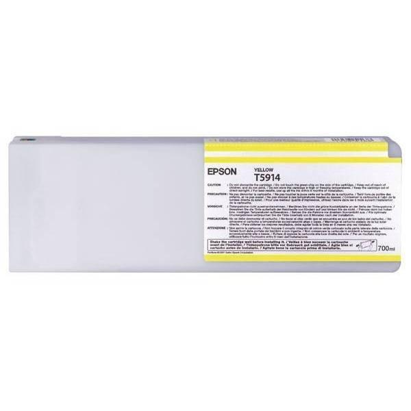 Epson T591400 Original Yellow UltraChrome Ink Cartridge (700ML for Stylus Pro 11880)