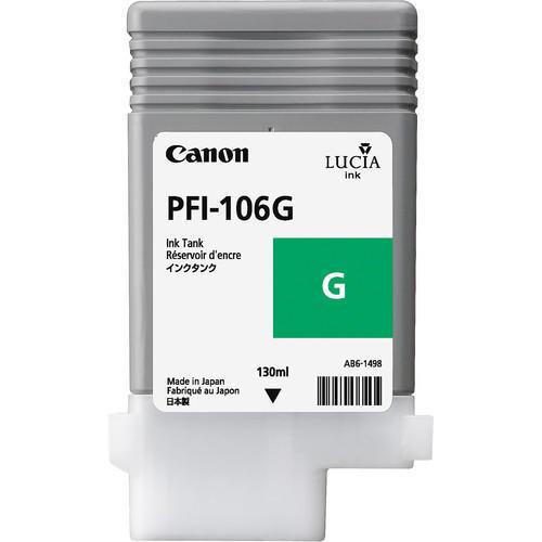 Canon 6628B001AA (PFI-106G) Original Green Ink Cartridge (130ml)