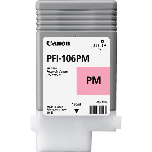 Canon 6626B001AA (PFI-106PM) Original Photo Magenta Ink Cartridge (130ml)