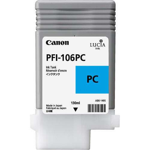 Canon 6625B001AA (PFI-106PC) Original Photo Cyan Ink Cartridge (130ml)