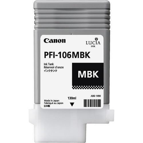 Canon 6620B001AA (PFI-106MBK) Original Matte Black Ink Cartridge (130ml)