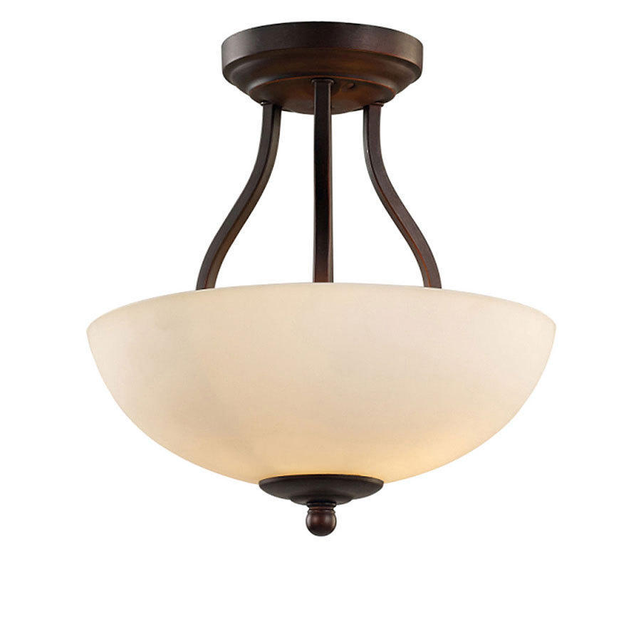 Mangnolia Lighting Collection Bronze Finish Semi-ceiling Lamp