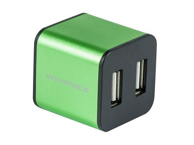 USB 2.0 4-Port Cube - Green - Monoprice