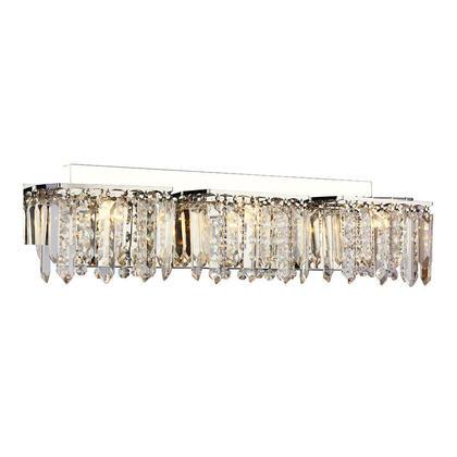 Luxury crystal chrome finish 3 lights wall lamp modern for Crystal bathroom wall sconces