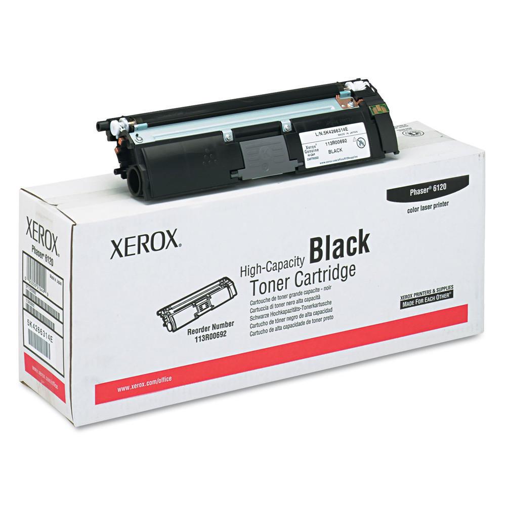 Xerox Original High Capacity Black Toner Cartridge (113R00692) for Phaser 6120 Series
