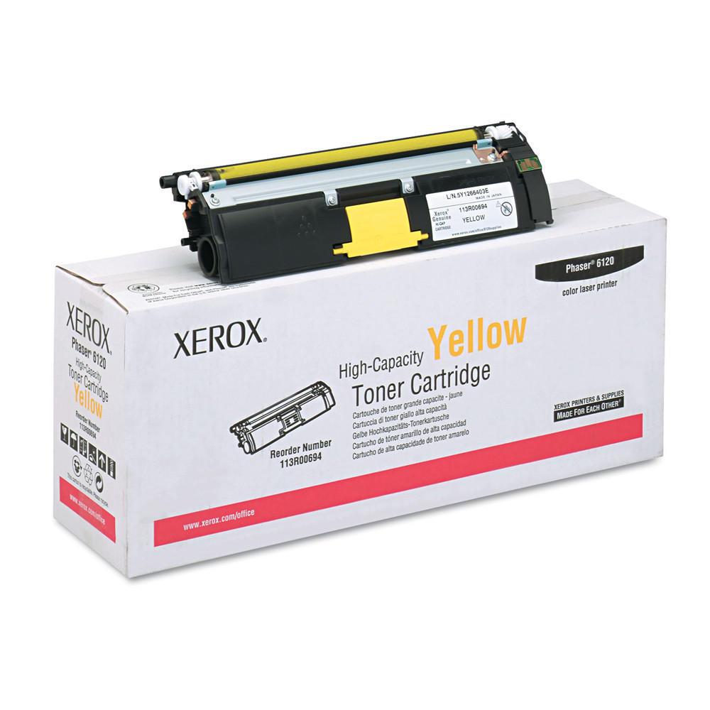 Xerox Original High Capacity Yellow Toner Cartridge (113R00694) for Phaser 6120 Series