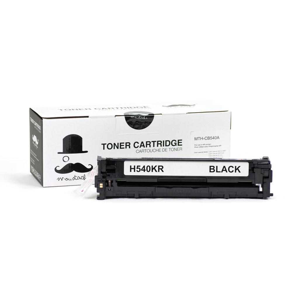 hp 125a cb540a new compatible black toner cartridge moustache - Hp Color Laserjet Cp1515n