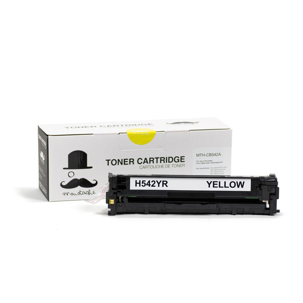 HP 125A CB542A New Compatible Yellow Toner Cartridge - Moustache