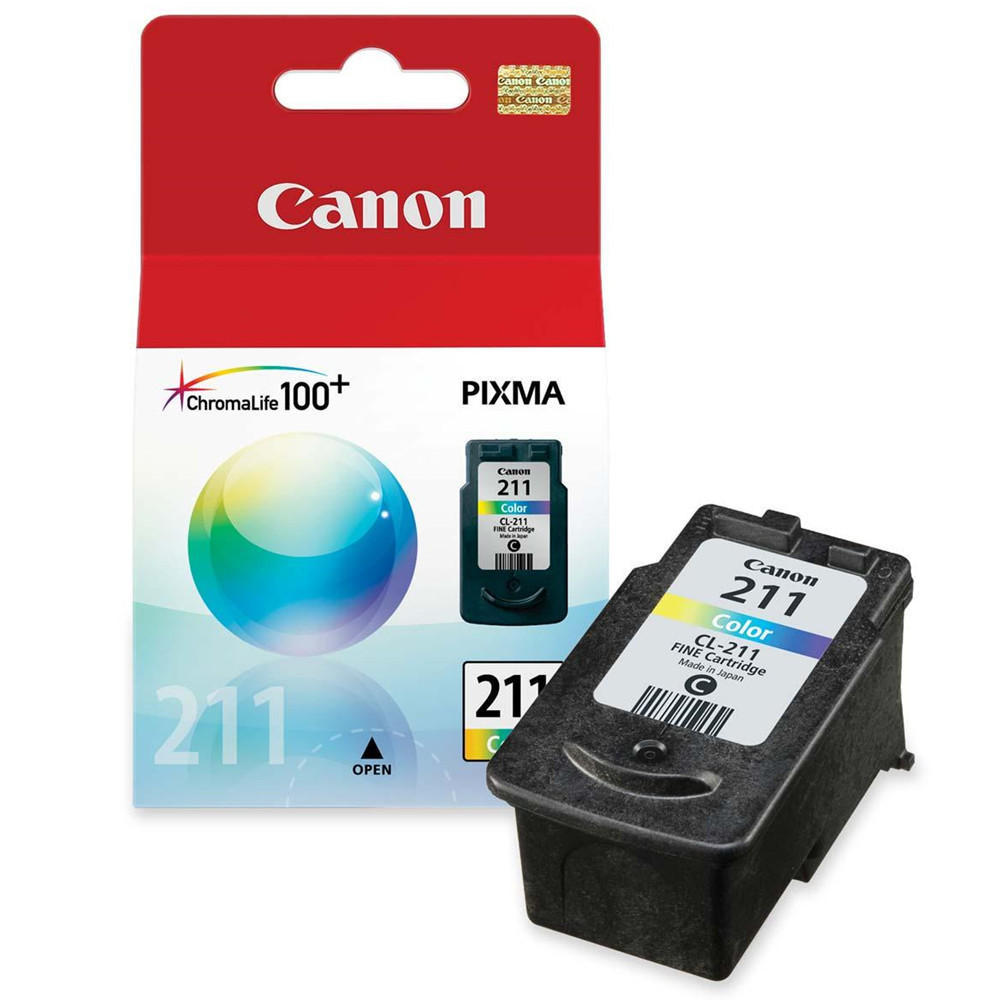 Canon CL-211 Original Color Ink Cartridge (2976B001)