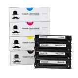 HP 125A CB540A CB541A CB542A CB543A New Compatible Toner Cartridges Combo Set - Moustache®