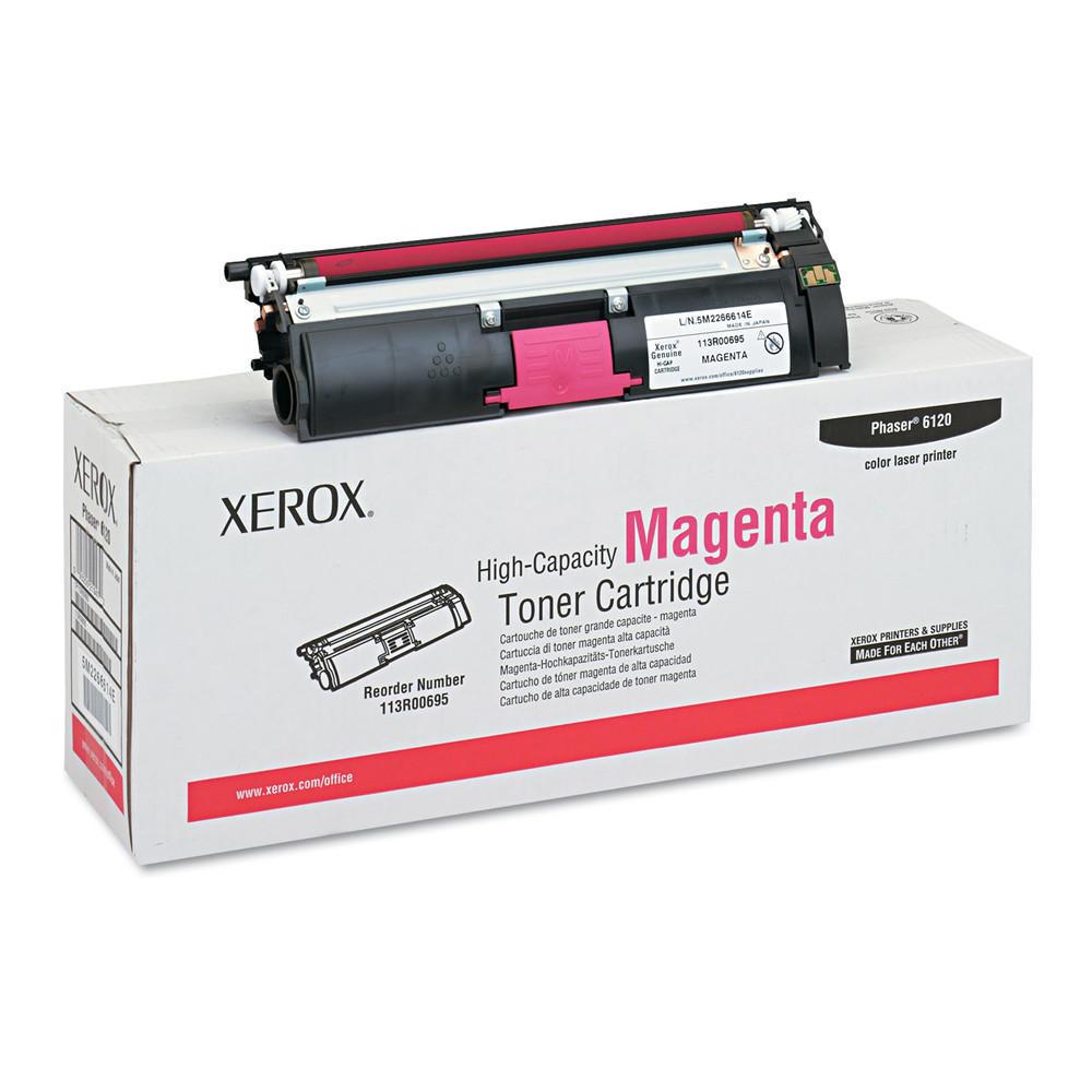 Xerox Original High Capacity Magenta Toner Cartridge (113R00695) for Phaser 6120 Series