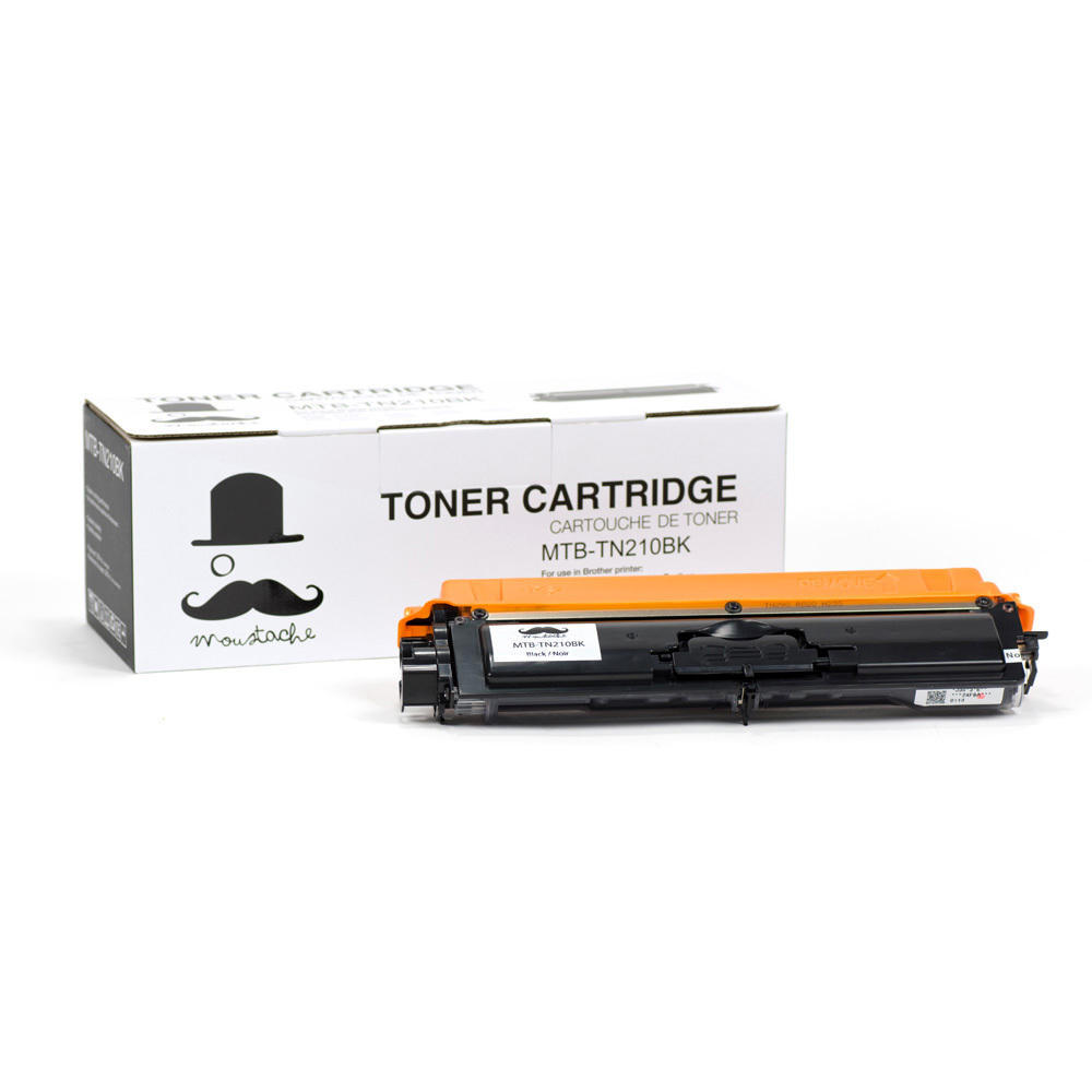 Brother TN-210 New Compatible Black Toner Cartridge - Moustache