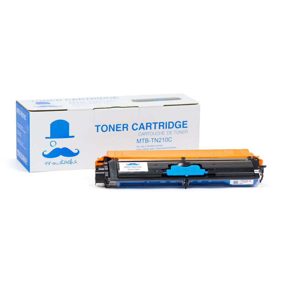 Brother TN-210 New Compatible Cyan Toner Cartridge - Moustache