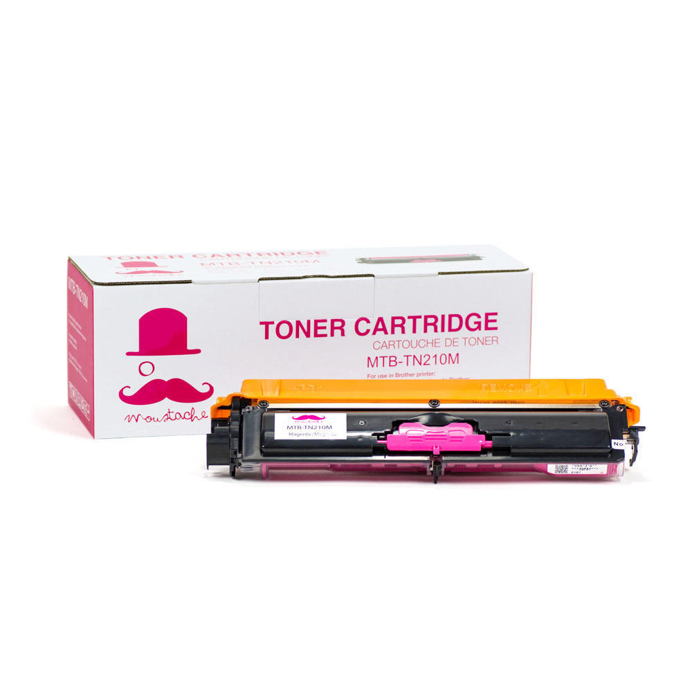 Brother TN-210 New Compatible Magenta Toner Cartridge - Moustache