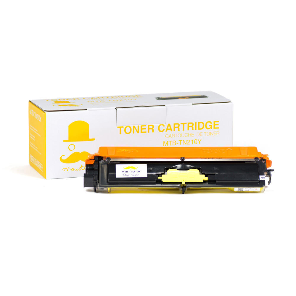 Brother TN-210 New Compatible Yellow Toner Cartridge - Moustache