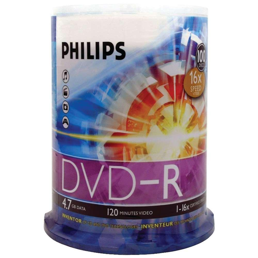 Philips 16x (Premium) DVD-R 4.7GB 100pcs, Spindle