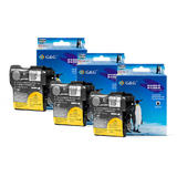 Brother LC61 New Compatible Black Ink Cartridge (Tri Pack) - G&G™