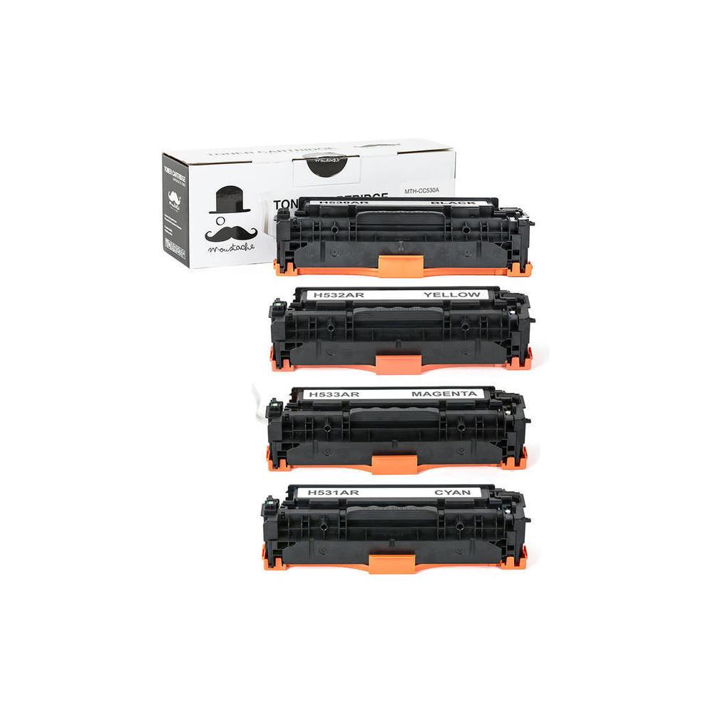 hp 304a new compatible toner cartridge combo set moustache - Hp Color Laserjet Cm2320fxi Mfp