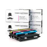 Brother TN-115 BK/C/M/Y New Compatible Toner Cartridge Combo Set - Moustache®