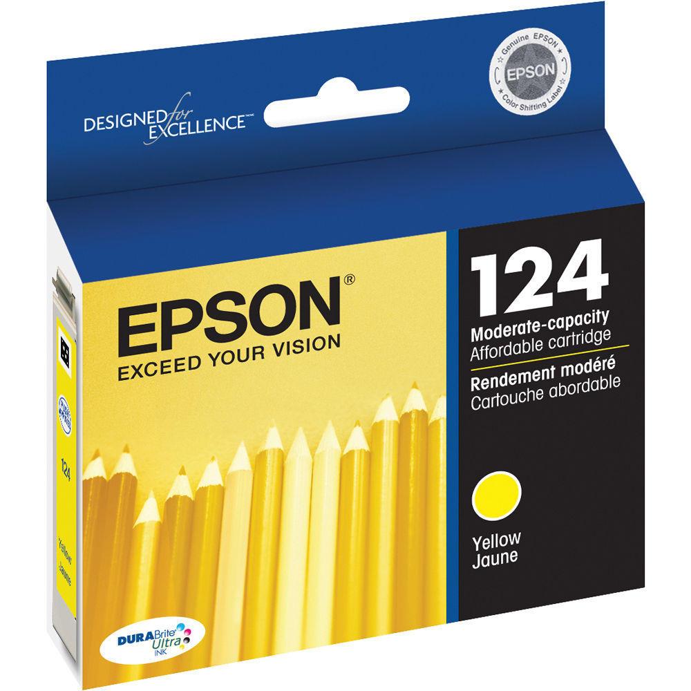 Epson 124 T124420 Original Moderate-Capacity Yellow Ink Cartridge