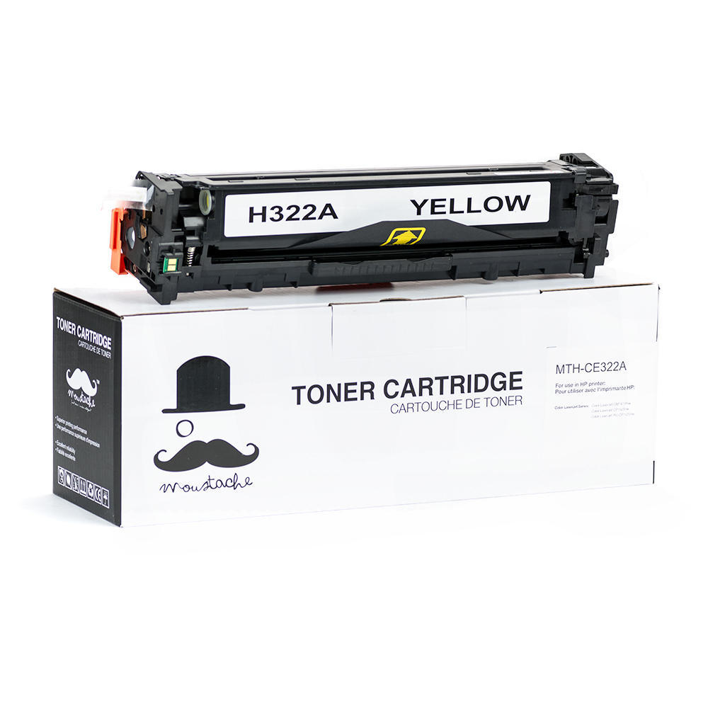 HP 128A New Compatible Yellow Toner Cartridge CE322A - Moustache