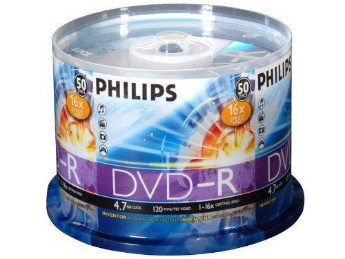 Philips 16x (Premium) DVD-R 4.7GB, 50pcs/pk