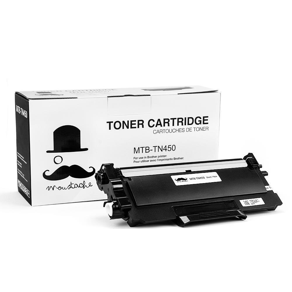 Brother TN-450 New Compatible Black Toner Cartridge - Moustache